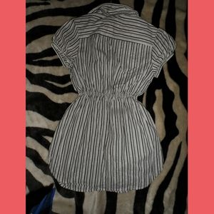 Candie's Tops - Striped Classy Candies Dress Top Button Up